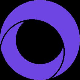 Orbit CSS Logo in example full page hero banner.